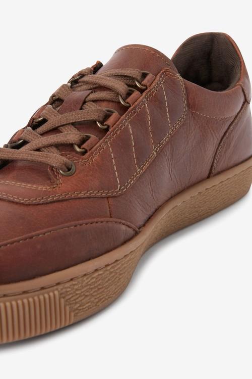 Next Leather Gum Sole Shoes