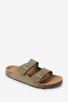 Next Two Buckle Leather Sandals - 284662
