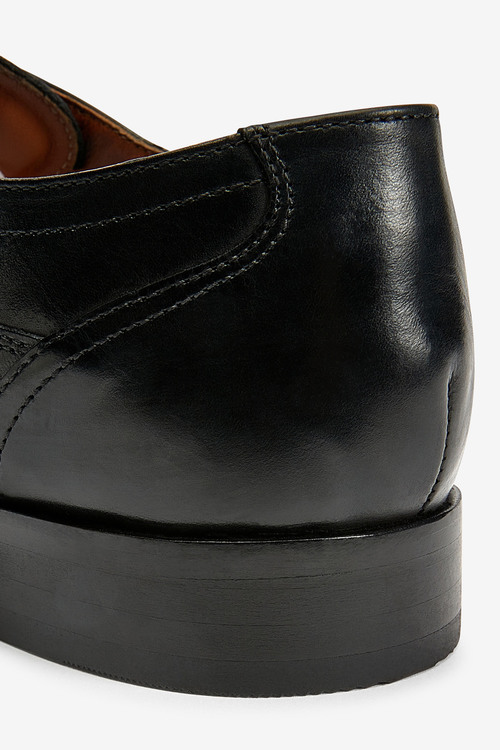 Next Leather Slim Derby Shoes