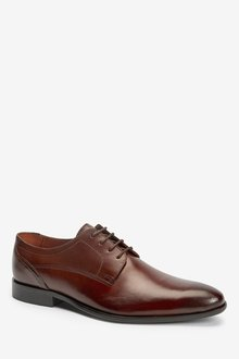 Next Leather Slim Derby Shoes - 284667