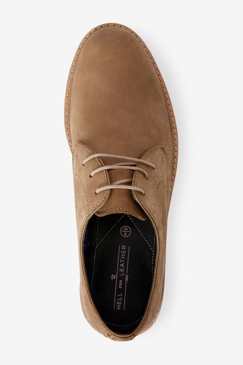 Next Nubuck Leather Derby Shoes