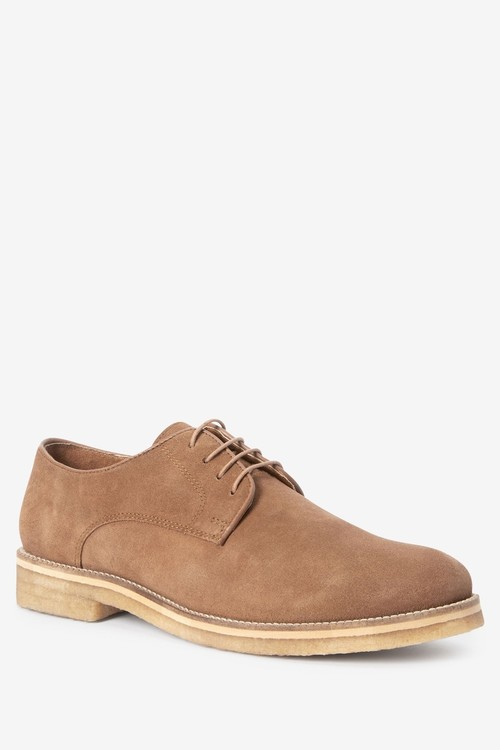 Next Modern Heritage Crepe Sole Suede Derby Shoes