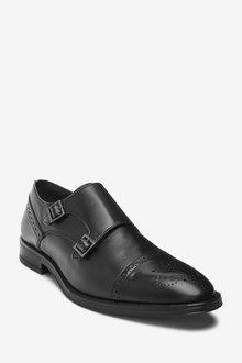 Next Leather Toe Cap Double Monk Shoes - 284679