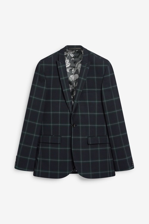 Next Tailored Fit Check Suit: Jacket