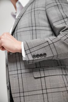 Next Slim Fit Check Suit: Jacket - 284739