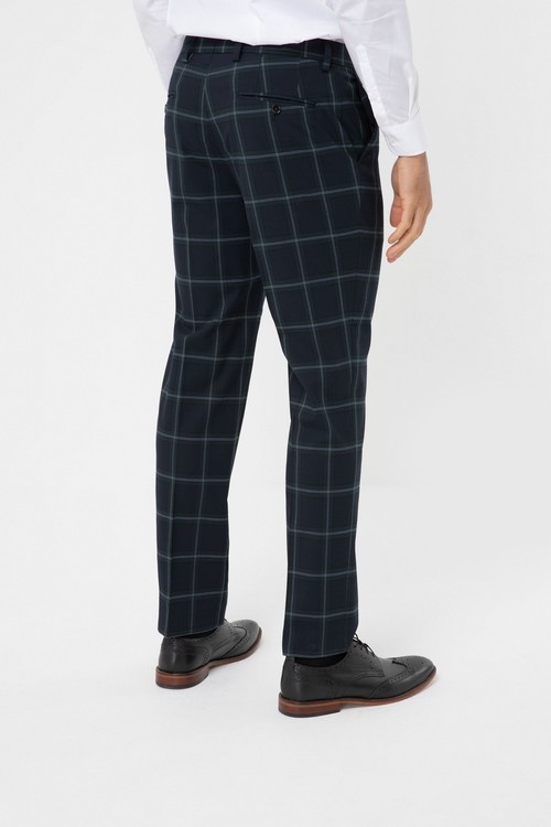 Next Tailored Fit Check Suit Jacket