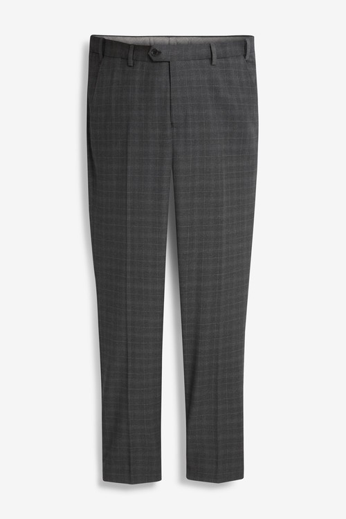 Next Grey Check Suit: Trousers