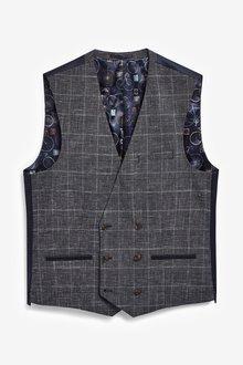 Next Check Suit: Waistcoat - 284783