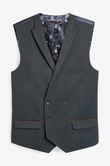 Next Herringbone Suit: Waistcoat - 284806