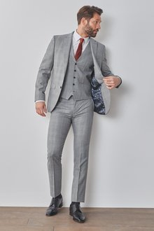 Next Slim Fit Signature Check Suit: Jacket - 284829