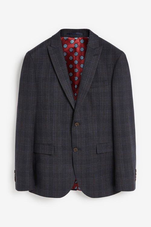 Next Slim Fit Signature Check Suit: Jacket