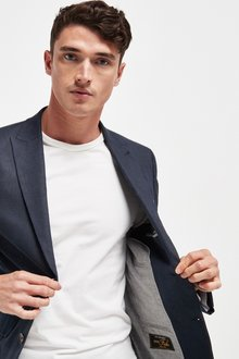 Next Signature Linen Suit: Jacket-Slim Fit - 284835