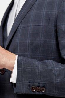 Next Slim Fit Signature Check Suit: Jacket-Tailored Fit - 284837