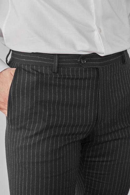 Next Signature Stripe Suit: Trousers-Slim Fit