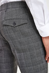 Next Check Slim Fit Trousers