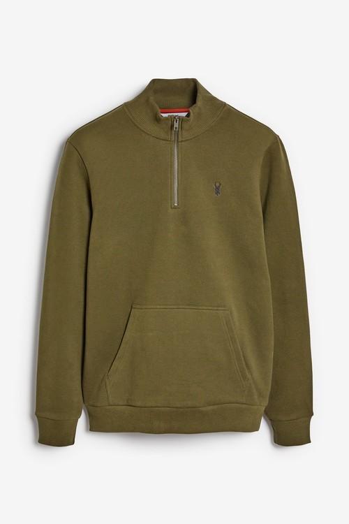 Next Jersey-Zip Neck Sweatshirt