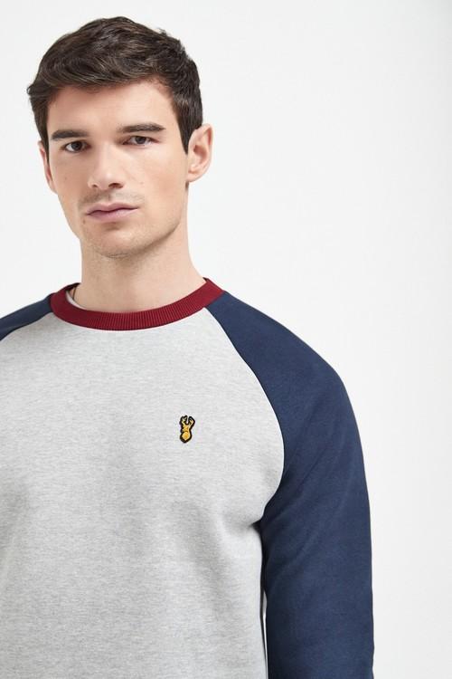 Next Raglan Crew Neck Sweatshirt