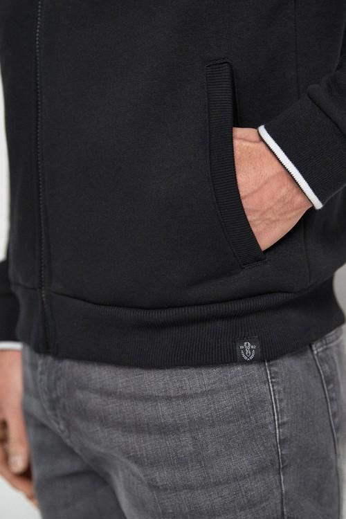 Next Tipped Collar Zip Through Top