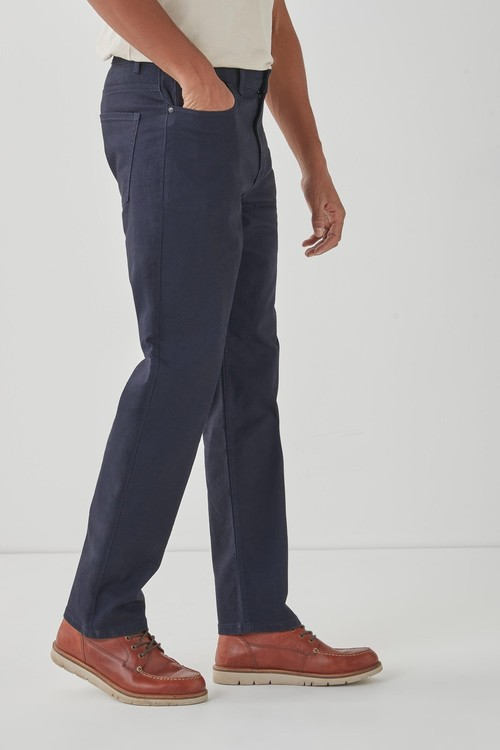 Next Motion Flex Soft Touch Trousers-Straight Fit