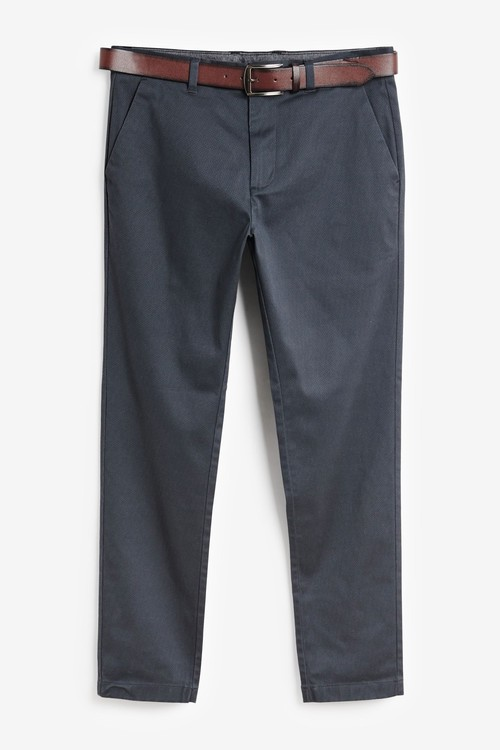 Next Belted Geo Print Chino Trousers