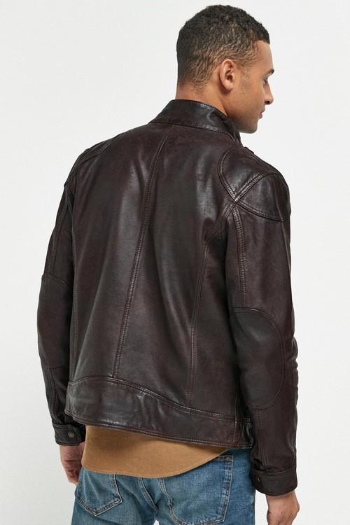 Next Signature Leather Biker Jacket