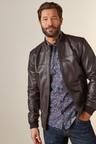 Next Signature Leather Funnel Neck Jacket