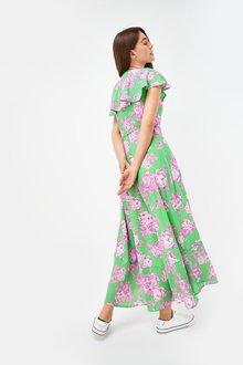 Next Ruffle Wrap Midi Dress-Tall - 285134