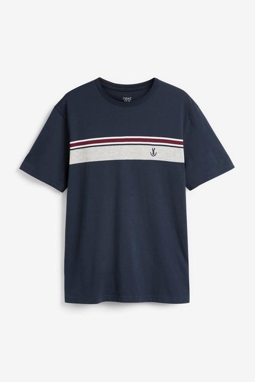 Next Chest Stripe Short Pyjama Set