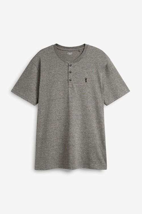 Next Grandad Collar T-Shirts Two Pack