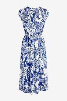 Next Tie Neck Midi Dress - 285202