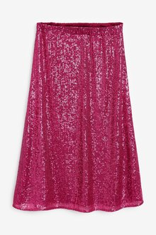 Next Sequin Midi Skirt-Tall - 285220