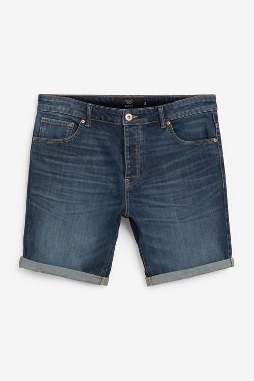 Next Authentic Vintage Denim Shorts With Stretch-Slim Fit