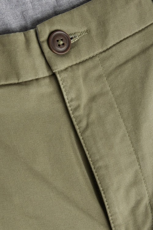 Next Slim Pleated Stretch Chino Shorts