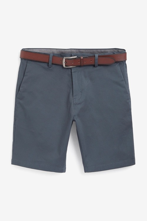 Next Tile Print Belted Chino Shorts