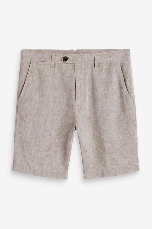Next Signature 100% Linen Shorts