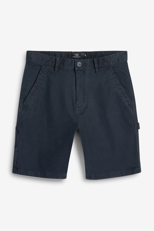 Next Cotton Laundered Carpenter Shorts With Stretch