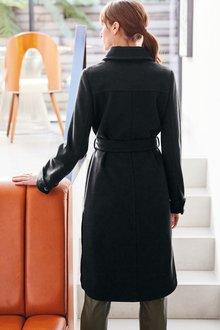 Next Longline Belted Coat - 285299