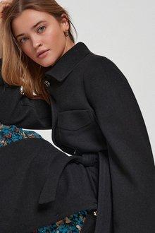 Next Longline Belted Coat - 285300
