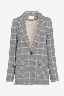 Next Linen Blend Check Blazer - 285302