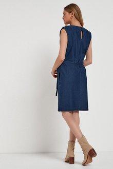 Next Shoulder Pad Jersey Denim Dress - 285349