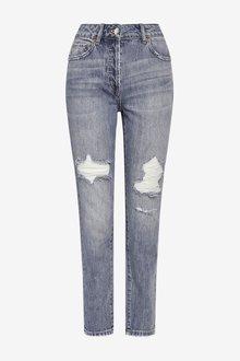 Next Cropped Boyfriend Jeans - 285365