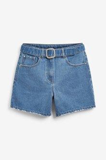 Next Non-Stretch Denim Shorts-Tall - 285381