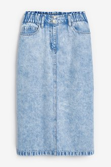 Next Elasticated Waist Denim Skirt-Tall - 285398