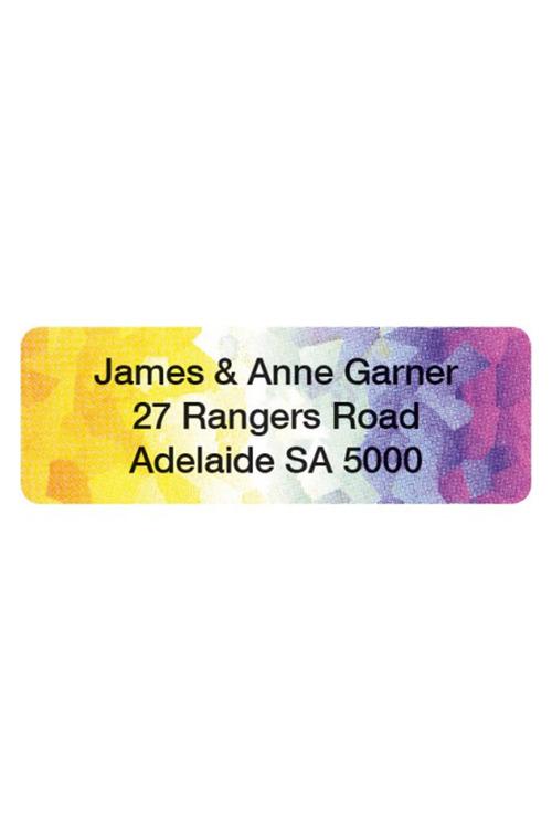 Personalised 500 Kaleidoscope Address Labels