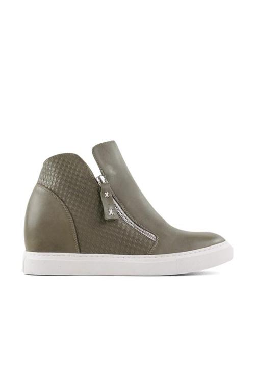 Bueno Sweden Hi Top Leather Sneakers