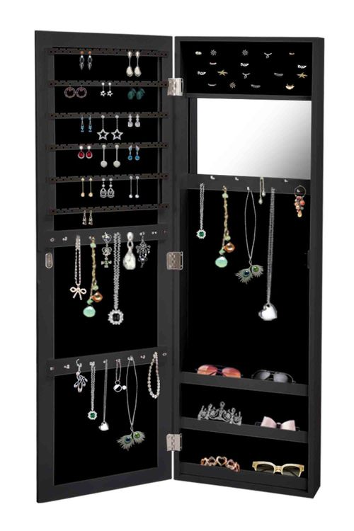 Levede  Wall Mounted Mirror Jewellery Cabinet