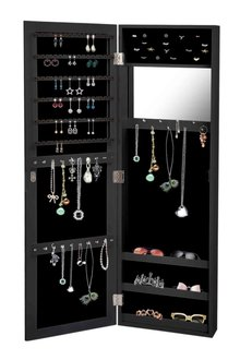 Levede  Wall Mounted Mirror Jewellery Cabinet - 285515