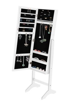 Levede  Free Standing Dual Use Mirror Jewellery Cabinet - 285516