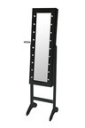Levede  Free Standing Mirror 18 LED Light Jewellery Cabinet