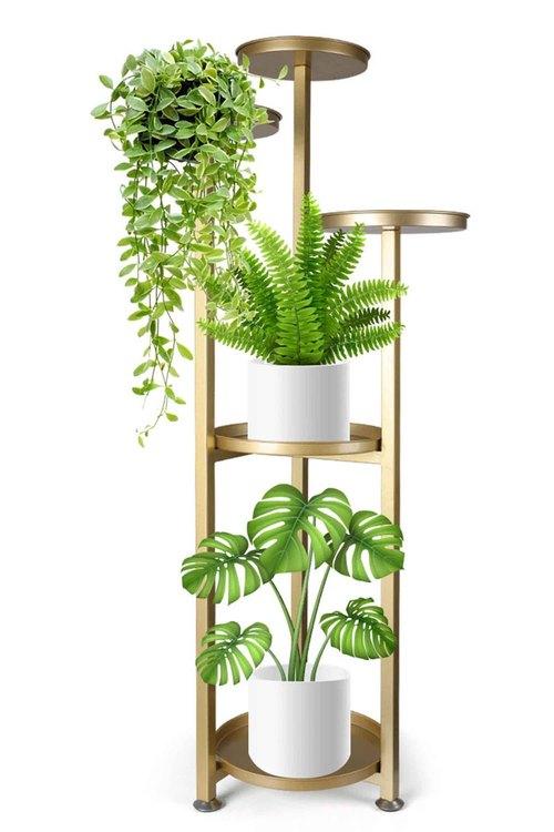 Levede  Metal Plant Stand Planter Shelf